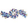 Crystal Motifs Fancy Swirl 10.5x4cm Purple Aurora Borealis/gold